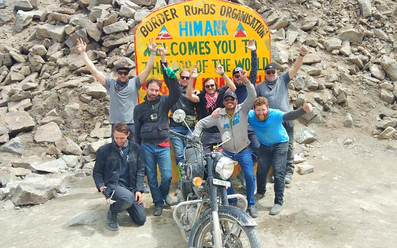 Ride in Ladakh to top of the World